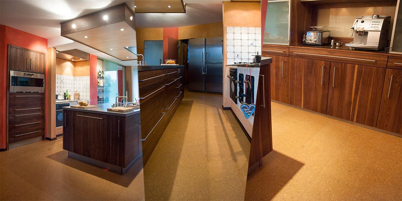 Küchenfußboden aus Kork